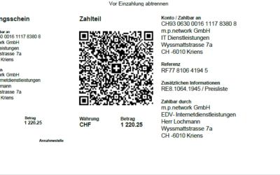 Swiss QR Rechnung mit FenOffice NG